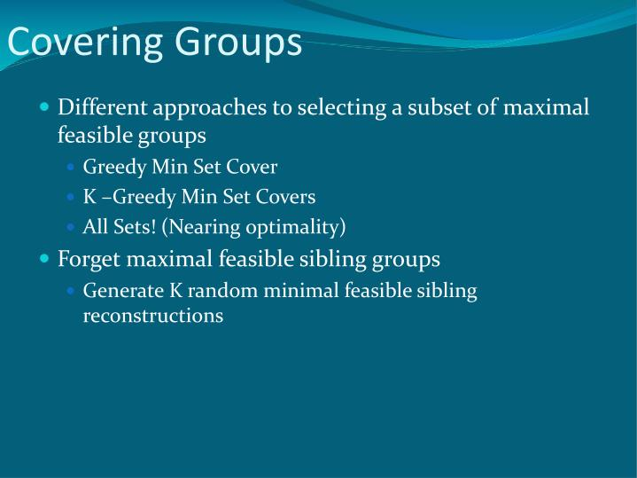 Covering Groups