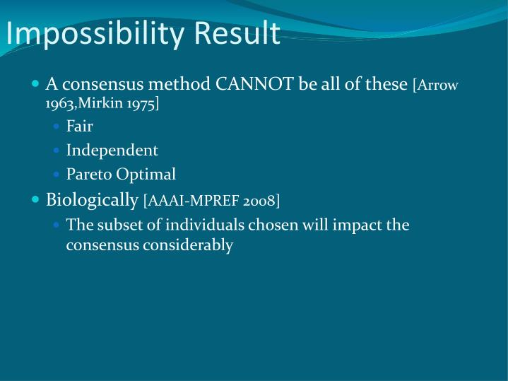 Impossibility Result