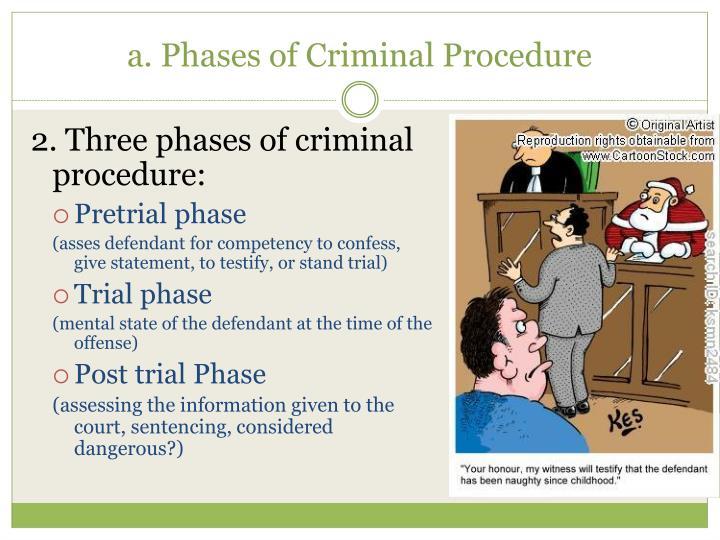 2. Three phases of criminal procedure: