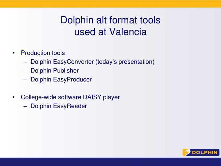 Dolphin alt format tools