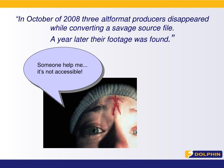 """In October of 2008 three"