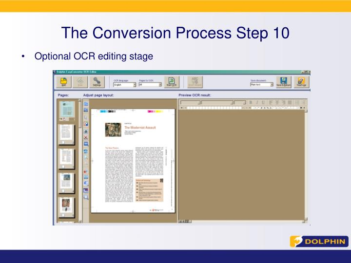The Conversion Process Step 10