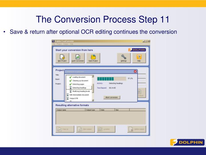 The Conversion Process Step 11