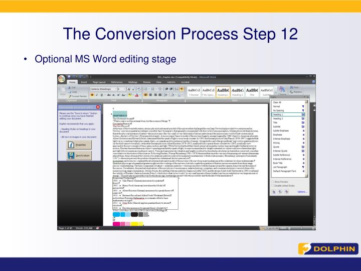 The Conversion Process Step 12