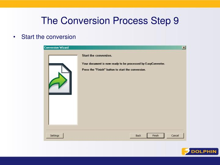 The Conversion Process Step 9