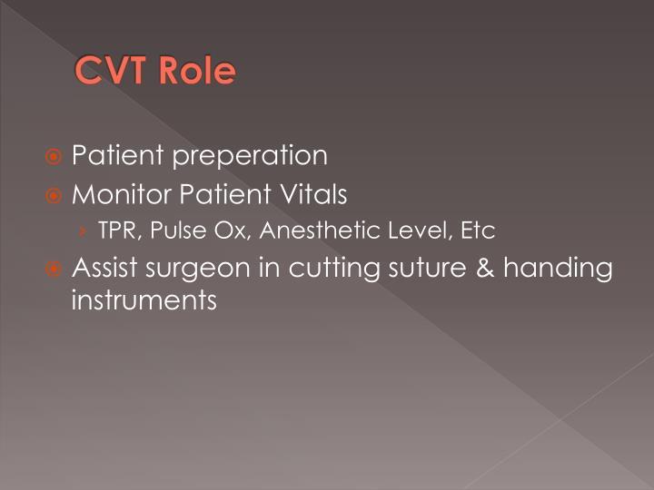 CVT Role