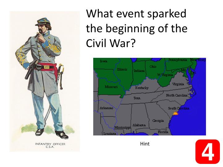 What event sparked the beginning of the Civil War?