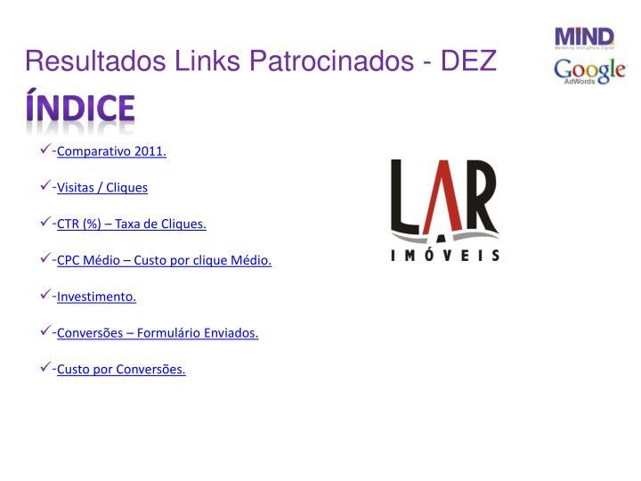 Resultados Links Patrocinados - DEZ
