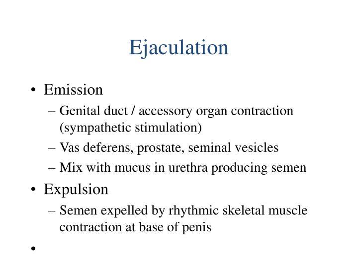 Ejaculation