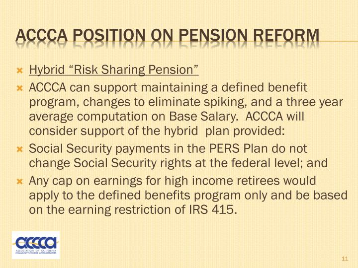 "Hybrid ""Risk Sharing Pension"""