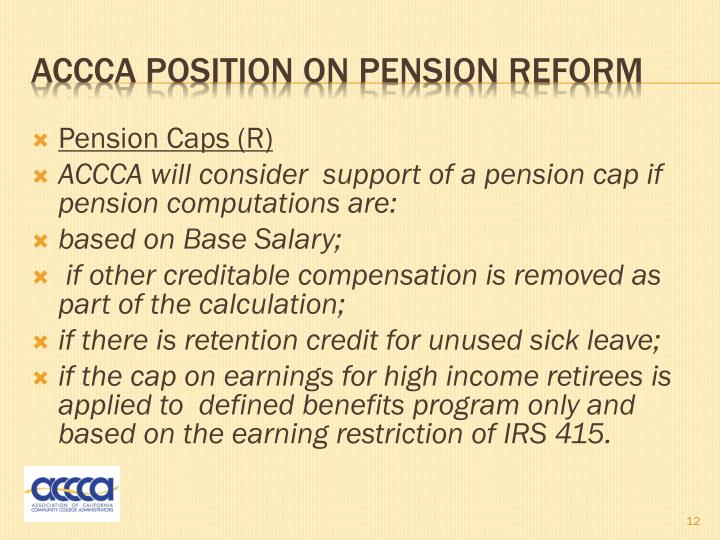 Pension Caps (R)