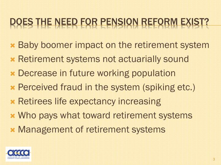 Does the need for pension reform exist