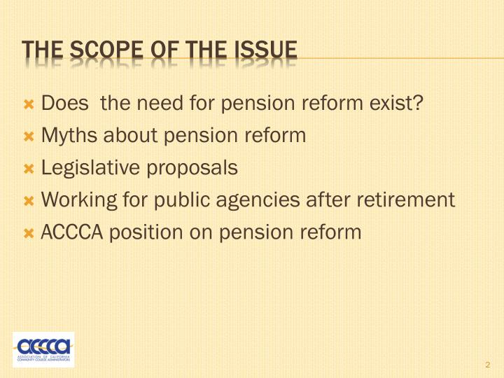 Does  the need for pension reform exist?