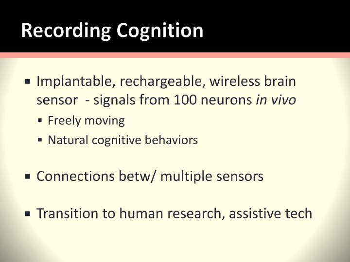 Recording Cognition