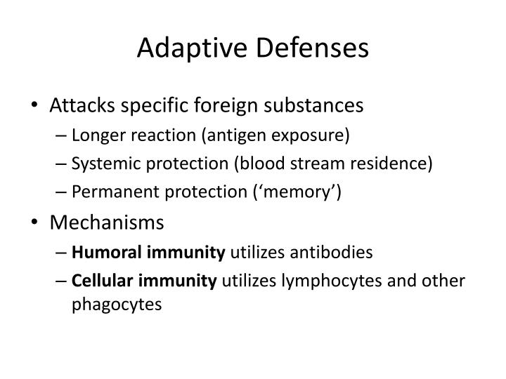 Adaptive Defenses