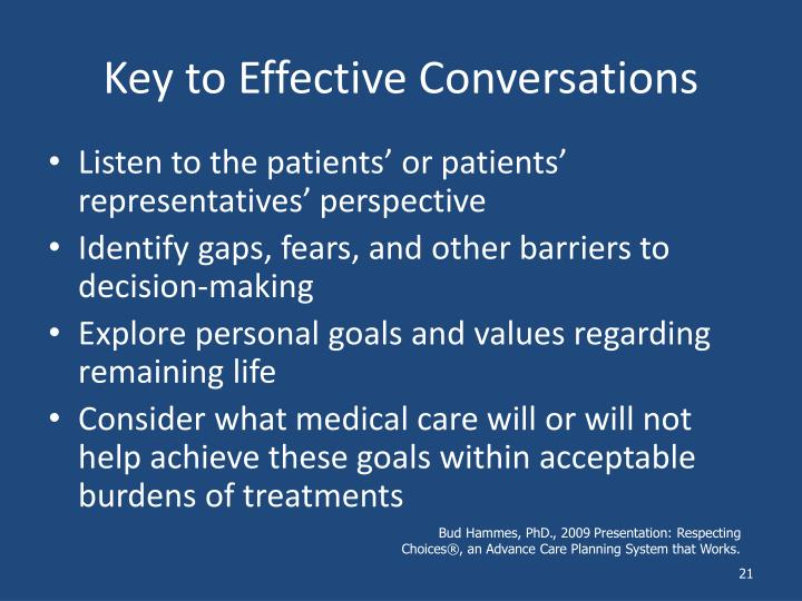 Key to Effective Conversations