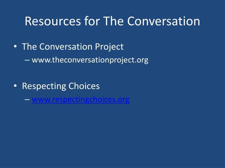 Resources for The Conversation