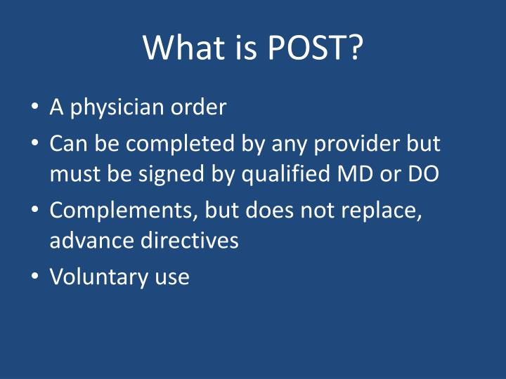 What is POST?