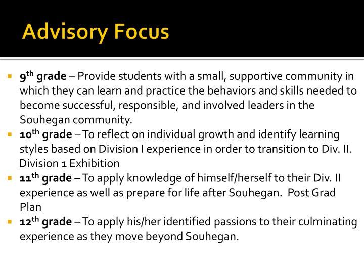 Advisory Focus