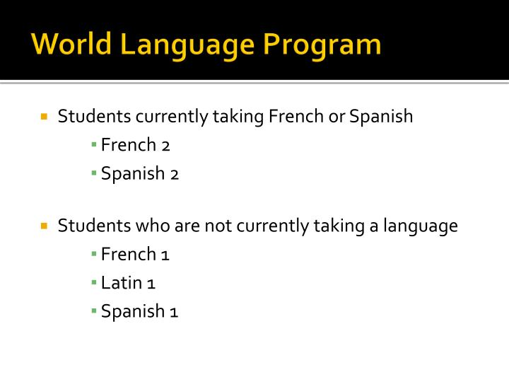 World Language Program
