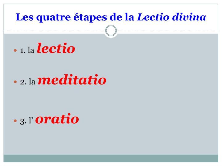 Les quatre étapes de la