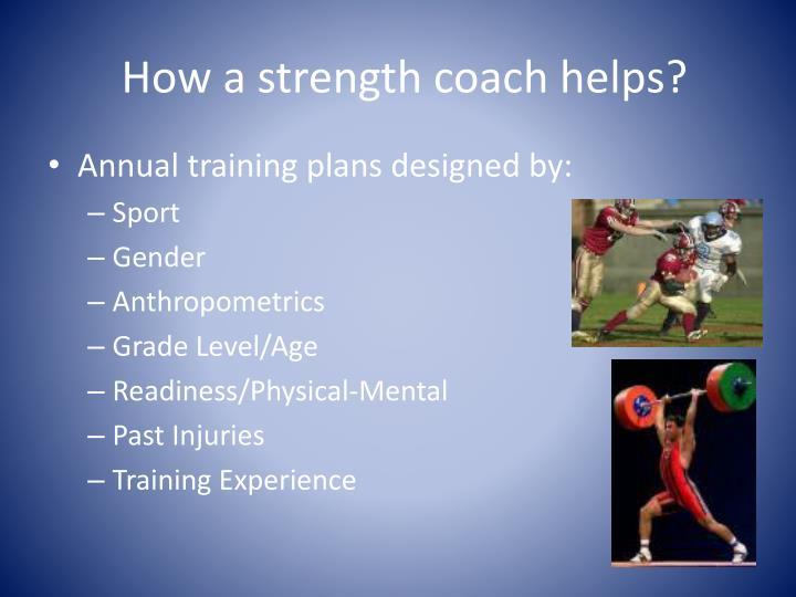 How a strength coach helps?