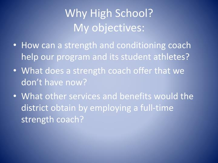 Why High School?