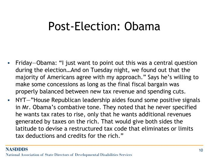 Post-Election: Obama