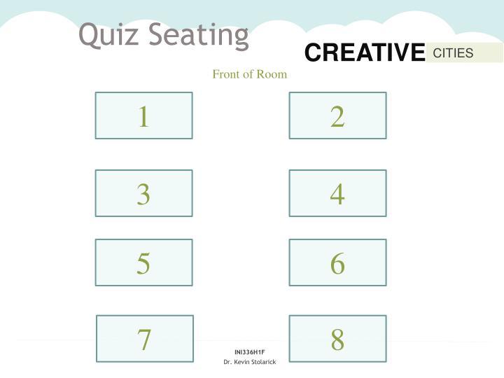 Quiz Seating
