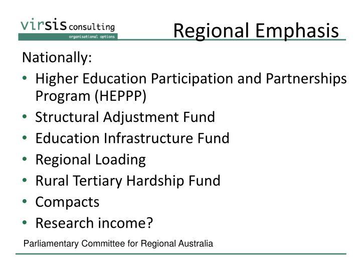 Regional Emphasis