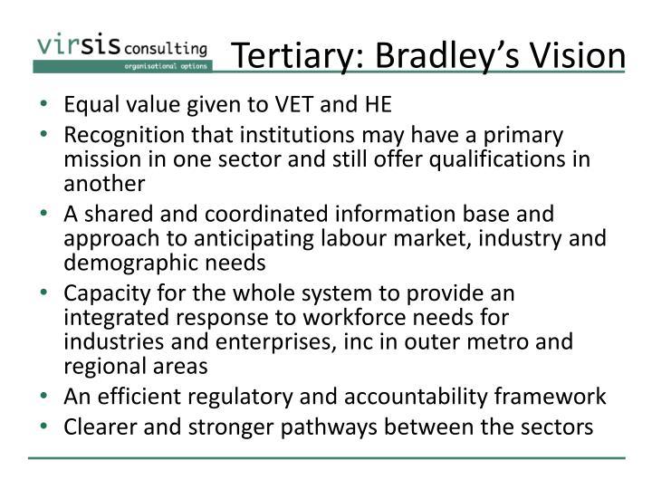 Tertiary: Bradley's Vision
