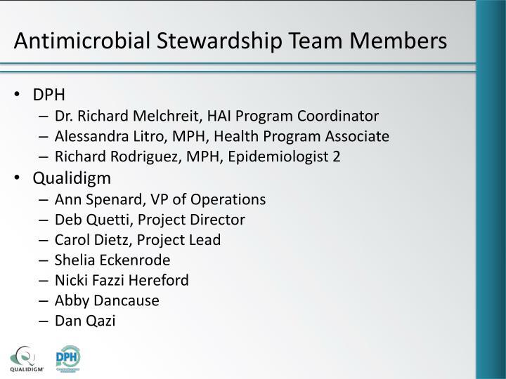 Antimicrobial Stewardship Team Members