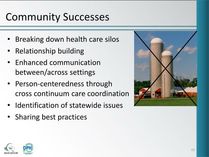 Community Successes