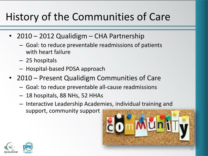 History of the Communities of Care