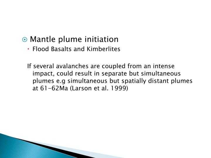Mantle plume initiation