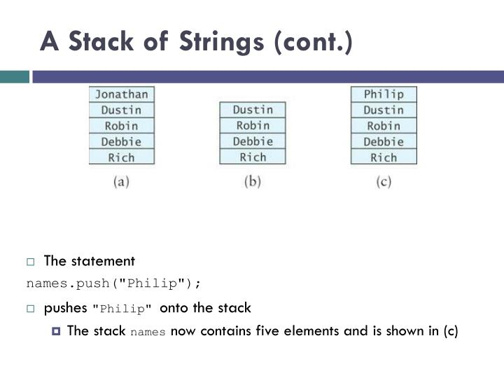A Stack of Strings (cont.)