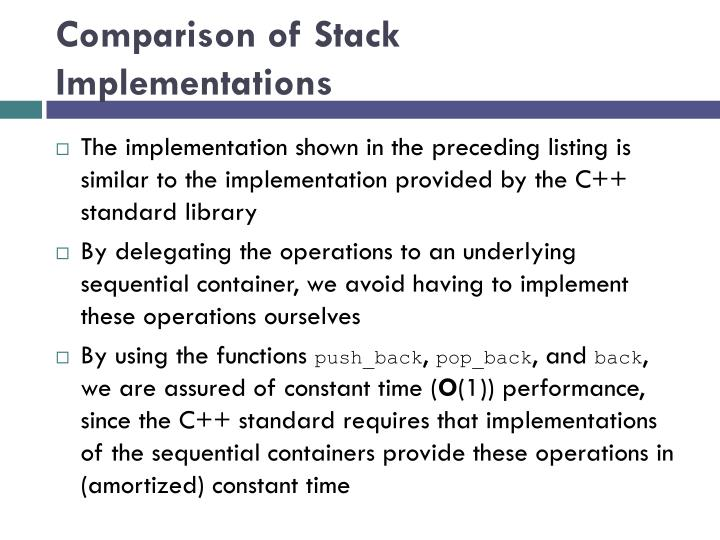 Comparison of Stack Implementations