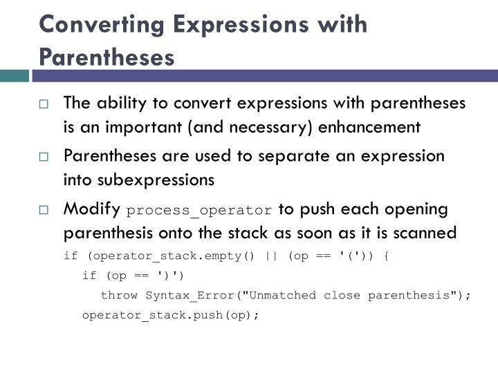 Converting Expressions