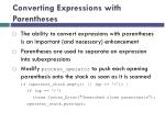 converting expressions with parentheses