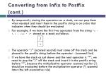 converting from infix to postfix cont2