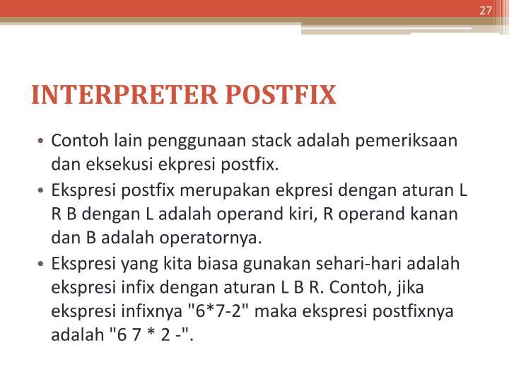 INTERPRETER POSTFIX