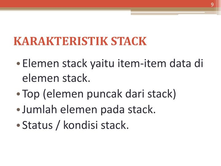 KARAKTERISTIK STACK