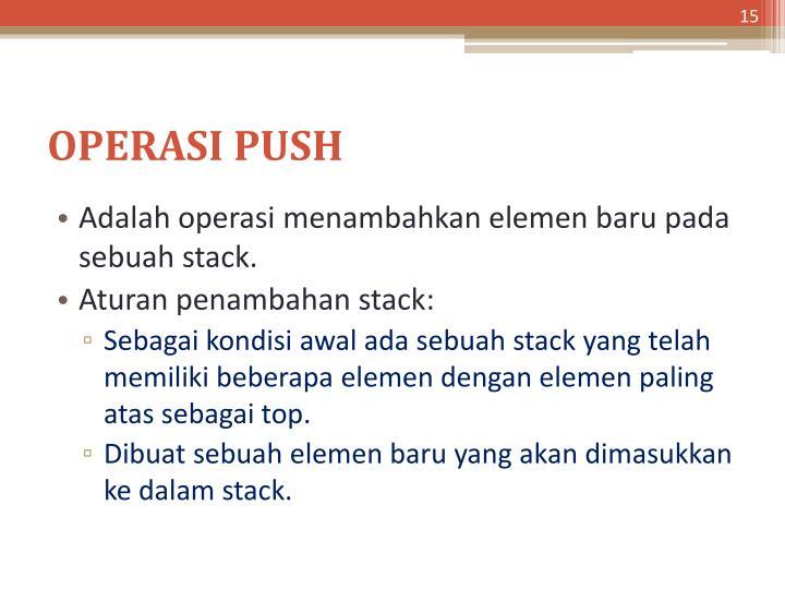 OPERASI PUSH