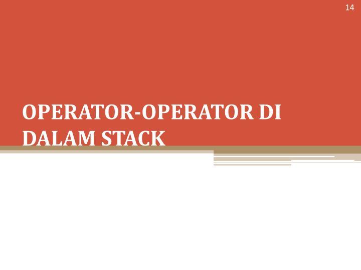 OPERATOR-OPERATOR
