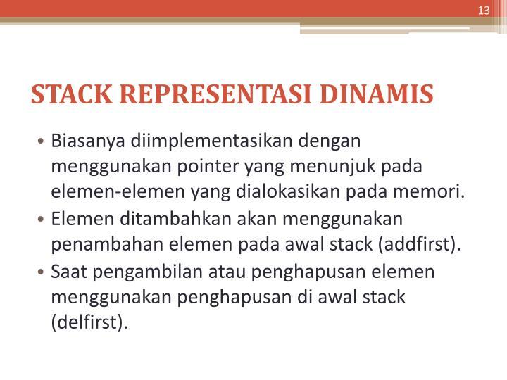 STACK REPRESENTASI