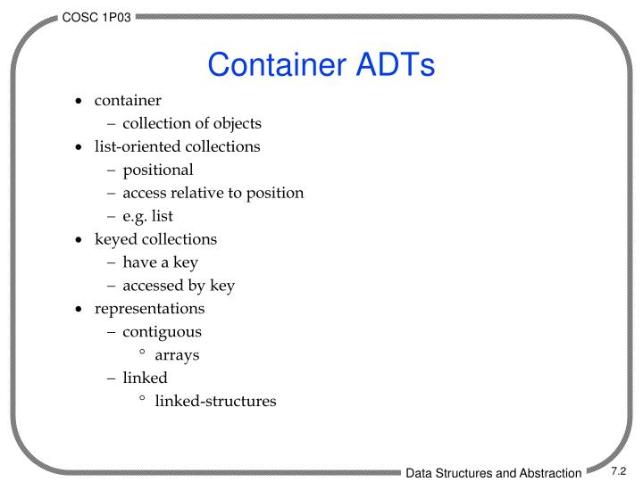 Container adts