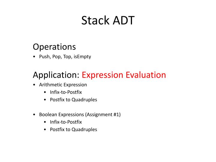 Stack adt