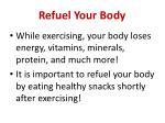 refuel your body