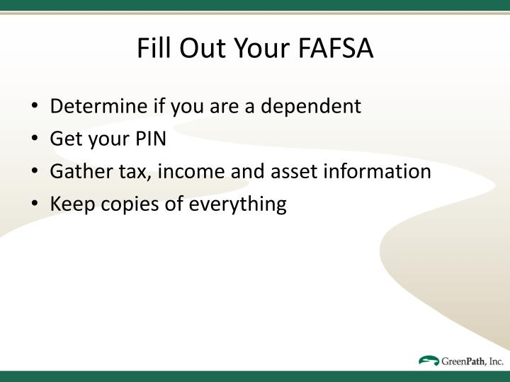Fill Out Your FAFSA
