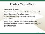 pre paid tuition plans